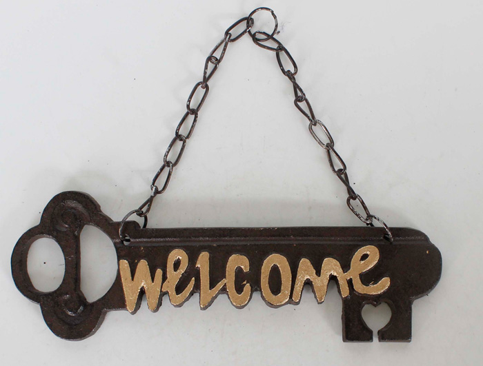 Cast Iron Welcome Sign AI06058