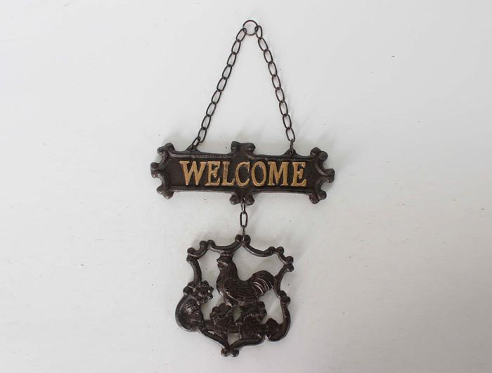 Cast Iron Welcome Sign AI13164
