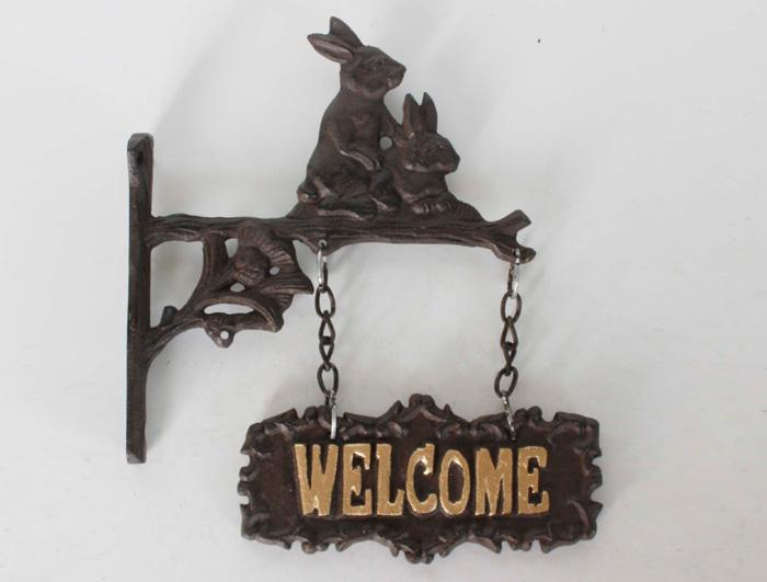 Cast Iron Welcome Sign AI14072