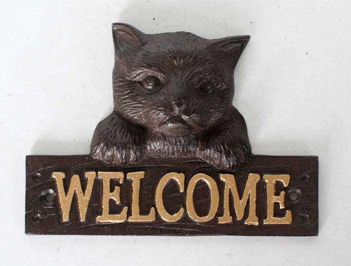 Cast Iron Welcome Sign AI14481